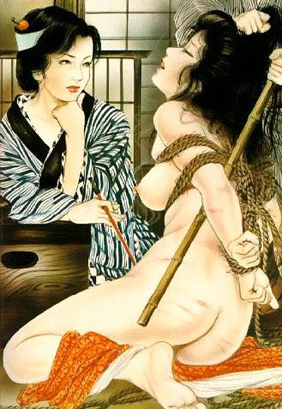 пищаще-кричашие японские женщины., которых конечно насилуют.